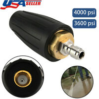 "Pressure Washer Rotating Turbo Nozzle 4000 PSI 2.5 GPM 1/4"" Quick Connect Hot"