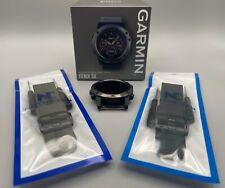 Garmin Fenix 5X Sapphire Gps Watch 51Mmw 2 New Bands & Box - Fiber-Polymer