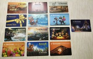 EuropaPark Emotions Card Sammlung Europa Park Gutscheinkarten EP Karten 13 Stück