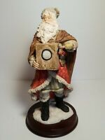"St Nicholas And Me 11"" 1994 Old World Christmas Santa Claus Statue On Wood Base"