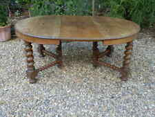 Dining table, circular, extending, early 20th century