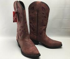 Danpost Boots ~ Dingo ~ Ladies 6 M ~ Red with Embroidery ~ New with Tags!