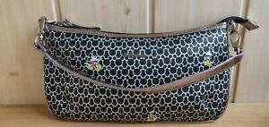 Disney Segue Mickey Mouse Clutch Small Bag Handbag Black Silver