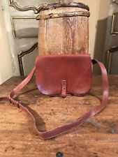 NEW LUCKY BRAND LEATHER MESSENGER SHOULDER TOTE MAIL BAG BROWN