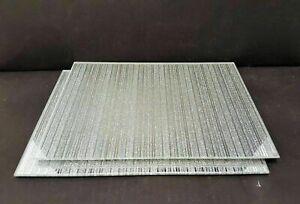 SILVER sparkle mirrored glass place mat plate matching coaster  GLITTER RANGE