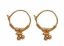 22 karat gold hoop earrings