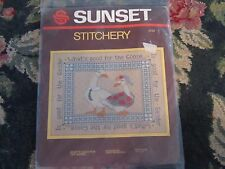 """NIP Sunset Stitchery what""""s good for the goose 14""""x18"""" craft kit sewing new"""