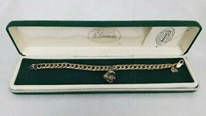 DISNEY STORE Vintage Sterling Silver Charm Bracelet Winnie The Pooh w Hunny Pot