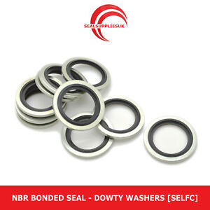 """NBR Bonded Seal - 3/8"""" BSP - Dowty Washers [Self Centralising]"""