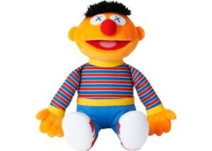 KAWS Sesame Street Uniqlo Ernie Plush Toy Orange