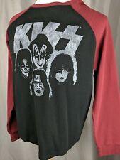 KISS Legendary Classic Rock Band Waffle Knit Graphic Shirt Black Mens Large L