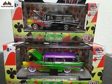 M2 Machines 1957 Chevrolet 210 Beauville Station Wagon Set of 2 Wc12 & Wc13