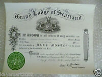 1960 Masonic Certificates-Degree of Master Mason in the Lodge St Kenneth No.1441