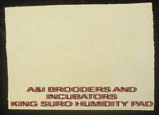 R-COM RCOM  HUMIDITY PAD FOR KING SURO  EGG  INCUBATOR BRAND NEW