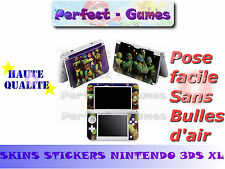 Skin sticker auto-collant vinyl tortues ninjas pour console nintendo 3DS XL LL