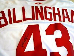 JACK BILLINGHAM Signed Reds Baseball Jersey -JSA Authenticated #II64821