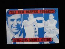 1974-75 Denver Nuggets Basketball Media Guide