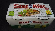 160gr X 4 pack cans Tuna in Oil Star Kist kosher from Israel The Holyland