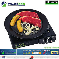 Butane Stove Gasmate® Gas Grill Griddle Pan BBQ Porcelain Plate Kit No Stick Fat