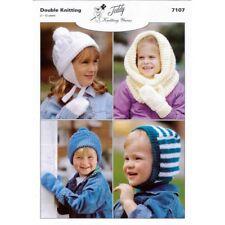 Childs Hat Mittens Snood Balaclava Double Knit DK Original Knitting Pattern 7107