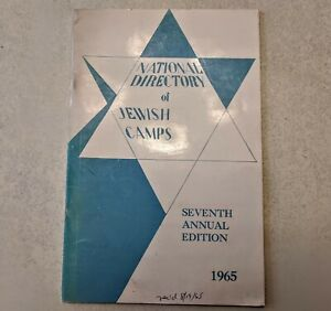 National Directory of Jewish Camps, Seventh Edition 1965