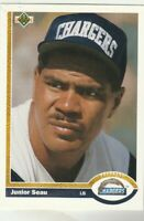 FREE SHIPPING-MINT-1991 Upper Deck #343 Junior Seau Chargers PLUS BONUS CARDS