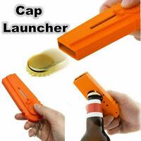 Flying Beer Drink Bottle Opener Cap  Launcher Top Shooter Gun Key Ring Gift Tool