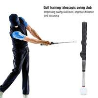 Golf Swing Grip Trainer Warm Up Training Aid Telescopic Club Trainer Guide Tool
