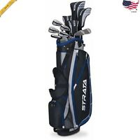 Callaway Mens Strata Plus Complete 16-Piece Golf Club Set With Bag, Left Handed
