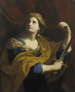 Guido Reni Judith Poster Reproduction Paintings Giclee Canvas Print