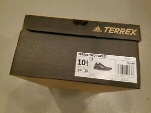 NEW in Box Adidas Mens 10.5 Black / Gray Terrex Two Parley Trail Running Shoes