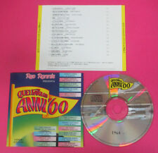 CD Compilation Quei Favolosi Anni'60 1964-6 GIORGIO GABER ADAMO no lp mc(C36*)