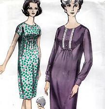 """Rara Vintage 60s Mod Vestido patrón de costura sin usar Busto 38"""" tamaño 14 Retro Revival"""