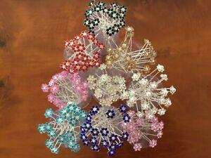 20 Strass Blume Kristall Silber Tone Pins. Hochzeiten Proms etc