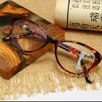 Finished Myopia Glasses Floral Round Myopic Eyeglasses Nearsighted Optical Frame