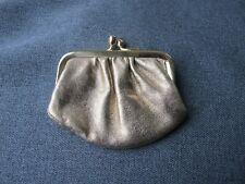 Vintage golden simile leather metal frame miniature purse great for dolls #5