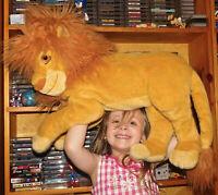 "MATTEL DISNEY 24"" Jumbo Plush ADULT SIMBA Big LION KING Mufasa Stuffed Excellent"