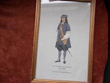 MILITARY FRAMED PRINT  BY P H SMITHERMAN (hugh evelyn print)(officer 1669)
