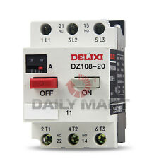 Delixi NEW DZ108-20 3VE 0.1-20A Circuit Breakers Motor Protective Protection