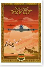 USAF 55th Wing Pacific Pivot 2015 United States Air Force Poster
