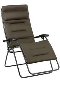 Lafuma Relax RSX Clip XL Air Comfort LFM 2041 7057 Taupe Garten Camping Stuhl