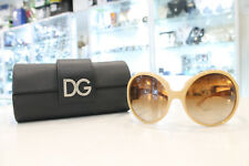 """New never used"" D&G 6030B 796/13 Brown Crystal Sunglasses"