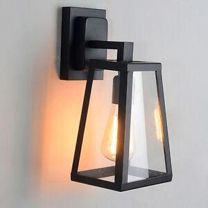 Outdoor Wall Lights Bar Glass Wall Lamp Kitchen Wall Sconce Black Wall Lighting
