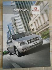 Kia Carnival range brochure c2000's Irish Market