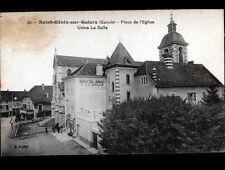 """SAINT-GENIX-sur-GUIERS (73) USINE de BANDAGES """"LA SALLE"""" & BUREAU de TABAC animé"""