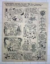 1960 Jim Mercer Cartoon It's The Silly Season