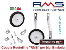 """0070 - Coppia Ruotelline Stabilizzatrici """"RMS"""" per Bici Bimbo 16""""-20"""" MTB Mounta"""
