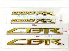 Raised 3D Chrome Gold CBR Decal Emblem Sticker Honda CBR1000RR (2008-2015) Bling