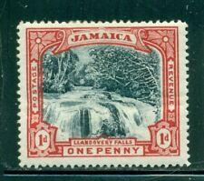 JAMAICA 32 SG32 MH 1901 1p red & blk Llandovery Falls Cat$12