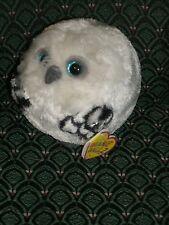 "Ty Beanie Ballz HOOTS the WHITE OWL 5"" (regular) 2013 MWMT RARE & RETIRED HTF"